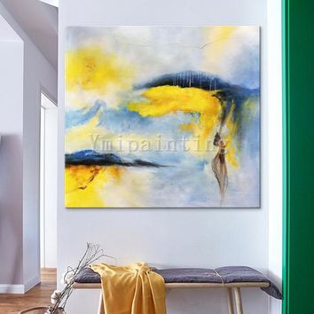 Abstract painting,acrylic painting on canvas,huge size,Wall Art Pictures for living room Home Decor Hand Painted color abstract painting