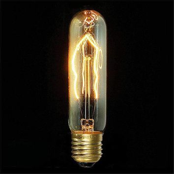 Vintage Edison Bulb E27 T10 40W Antique Filament Lamp Bulb Incandescent Lights Home Decor Chandelier Lighting 220V