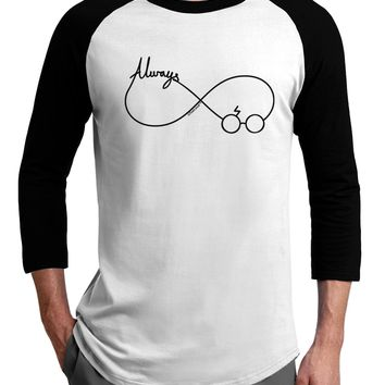 Always Infinity Symbol Adult Raglan Shirt
