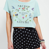 Truly Madly Deeply Sacred Plants Cropped Tee