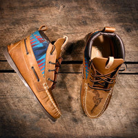 Handcrafted HIGHTOP Leather Boat Shoes Distressed by lovejules