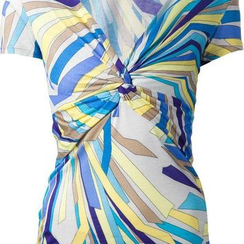 DCCKIN3 Emilio Pucci twisted front top