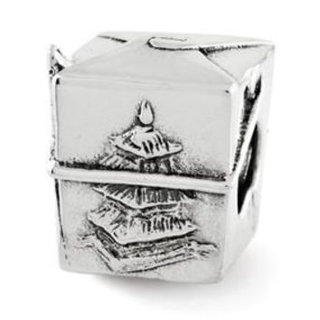 Sterling Silver Chinese Take Out Box Bead