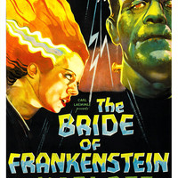 The Bride of Frankenstein - Horror Movie Poster Print  13x19 - Vintage Movie Poster - Boris Karloff