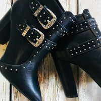 Kick Ass Studded  Booties