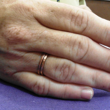 Hammered Copper Stack Ring - Buy 2 get 1 Free
