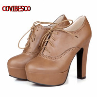new pumps,retro high heels square women spring shoes lacing up sweet style single lady pumps Alternative Measures