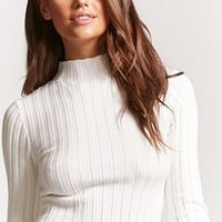 Ribbed Mock Neck Sweater