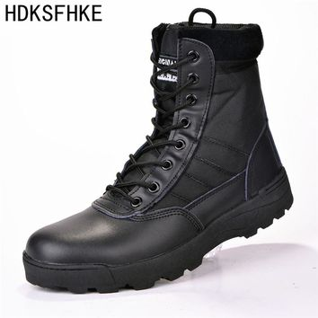 2017 us Military leather winter boots for men Combat bot Infantry tactical men boots army bots army erkek Men winter shoes