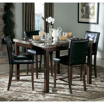 Homelegance Achillea 3 Piece Counter Height Dining Room Set