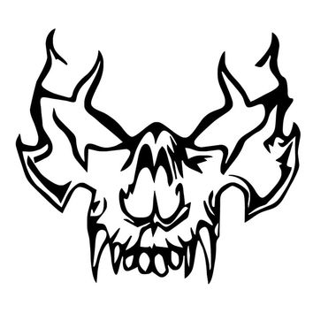 HotMeiNi 15x13.5cm Vampire Skull Car Decal Auto Window Bumper Sticker Die Cut Vinyl Laptop Decor