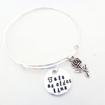 Personalized Bangle Bracelet, Silver Bangle, Jewelry with Message, Quote Bracelet, Daughters Gift