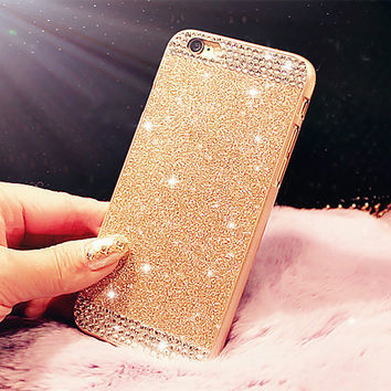 Glitter Rhinestone bling bling phone case for iphone 5 5s luxury diamond Sparkle cover