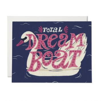 RED CAP CARDS SWAN DREAMBOAT CARD
