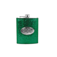 Holiday Cheers Flask - Green