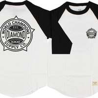 Diamond World Renowned Raglan 3/4 Sleeve XL White/Black
