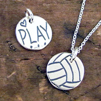 Volleyball Necklace  Play Volleyball Jewelry  Sterling by HANNI
