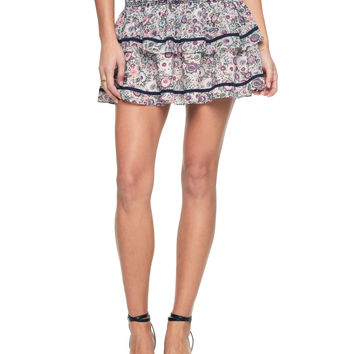 RIVIERA BLOSSOMS MINI SKIRT
