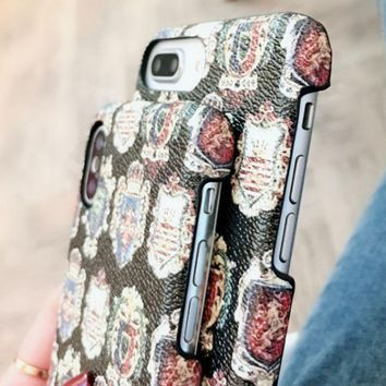 DG dolce & gabbana iphone6 leather high-end iPhone 8X7plus luxury mobile phone case
