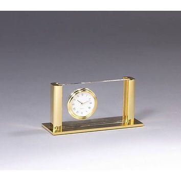 Personalized Free Engraving Business Card Holder with Clock
