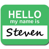 Steven Hello My Name Is Mouse Pad
