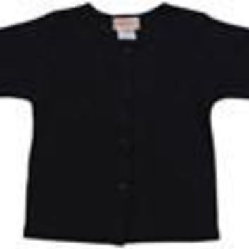 Zutano Black Cotton Baby Cardigan