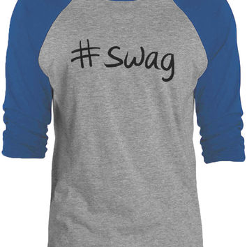 Big Texas Hastag Swag (Black) 3/4-Sleeve Raglan Baseball T-Shirt