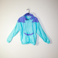 80s aqua blue purple windbreaker, pastel jacket, retro fashion, outerwear hipster urban outfitters, spring 2014, soft grunge 1980s 1990s 90s