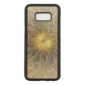 Flourish With Gold Modern Abstract Fractal Flower Carved Samsung Galaxy S8+ Case
