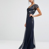 Frock and Frill Embellished Maxi Dress at asos.com