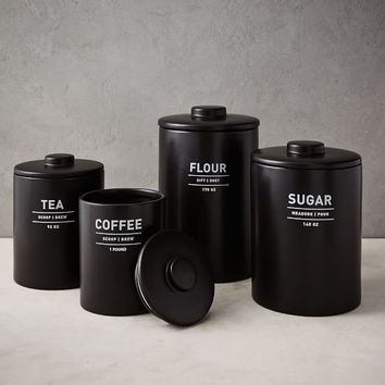 Utility Kitchen Canisters - Black