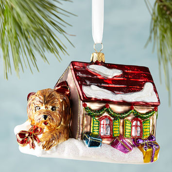 Puppy in House Christmas Ornament - Neiman Marcus