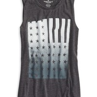 AEO Women's Graphic Tank (Black)