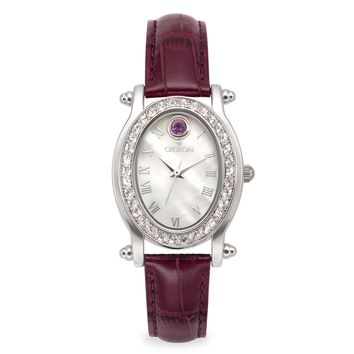 Croton Womens Stainless steel February Birthstone Watch