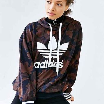 2d5c3486c8b adidas Originals Leaf Camo Hoodie from Urban Outfitters | Quick