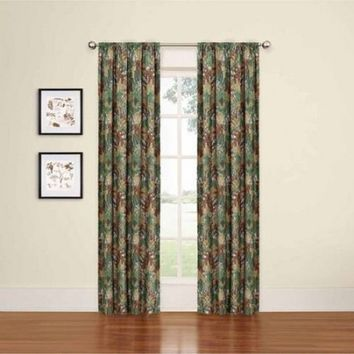Eclipse My Scene Camo Print Room Darkening Curtain Panel 40X63