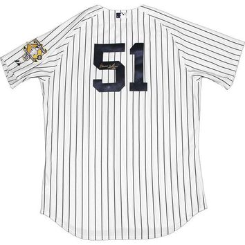 ONETOW Bernie Williams Signed Autographed New York Yankees Baseball Jersey (Steiner COA)
