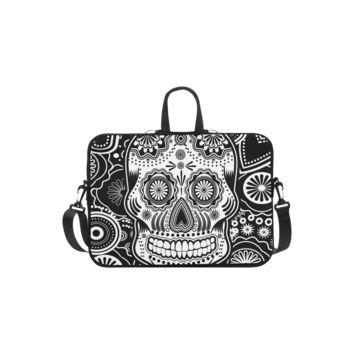 Personalized Laptop Shoulder Bag Sugar Skull Handbags 13 Inch