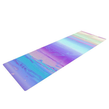 "Nina May ""Drip Dye Cool"" Pastel Blue Yoga Mat"
