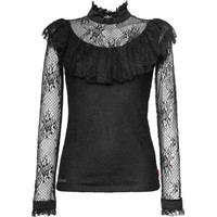 Black gothic lace top for women, by Queen of Darkness