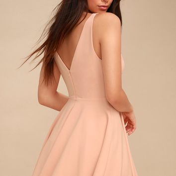 Darling Delight Blush Skater Dress