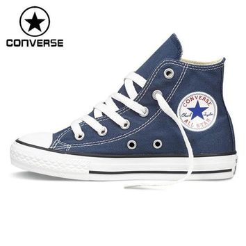 VONR3I Original New Arrival Converse Classic Kids' Canvas Shoes High top Sneakers - Red or Bl