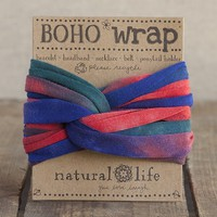 Red,  Blue  &  Green  Tie-Dye  Boho  Wrap  From  Natural  Life