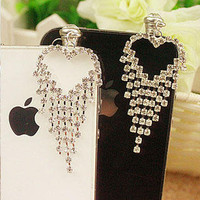 YESSTYLE: Fit-to-Kill - Rhinestone Mobile Earphone Plug (Silver - One Size)