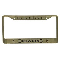 Browning Gold License Plate Frame