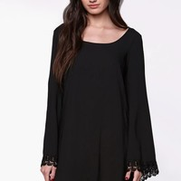LA Hearts Crochet Trim Bell Sleeve Dress - Womens Dress