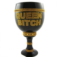 "License Pimp Cup Stein Black GlassGold ""Queen Bitch"" Your favorite online gift shop!"