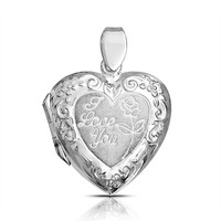 Bling Jewelry Loving Rose Locket