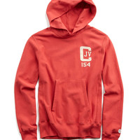 JV Graphic Hoodie in Faded Red