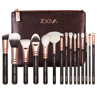 15pc/set Zoeva rose golden complete eye set precision eyes makeup brushes set with eyeshadow blending pencil makeup brushes kits
